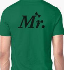 Mr Just Married Honeymoon Newly Wed Design Unisex T-Shirt