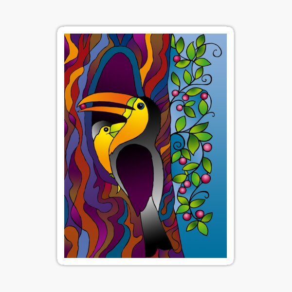 Toucans on a tree! Sticker