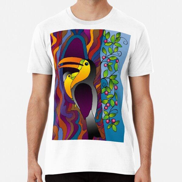 Toucans on a tree! Premium T-Shirt