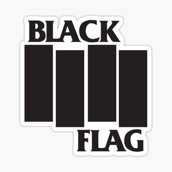 Black Flag Band Logo Sticker