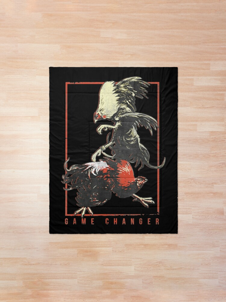Alternate view of Vintage Cock Fight Shirt - Game Fowl Enthusiast Shirt Comforter