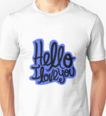 Hello I Love You Slim Fit T-Shirt
