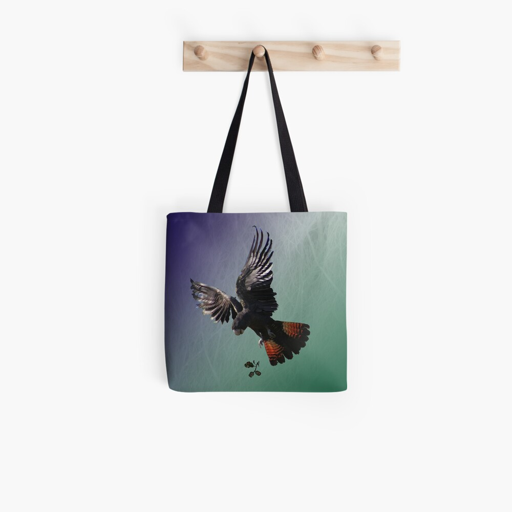 Red-tailed Black Cockatoo Tote Bag
