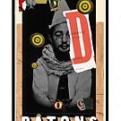 Dada Tarot- Page of Batons by Peter Simpson