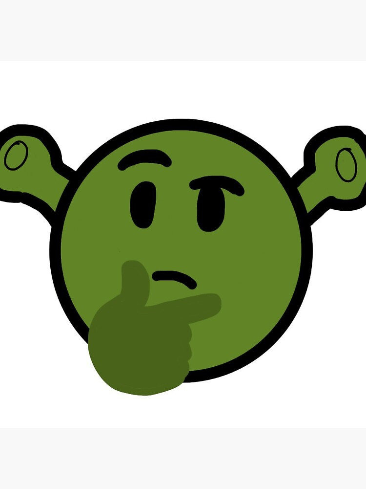 Shrek Thinking Emoji Greeting Card By Bookusmustardo Redbubble