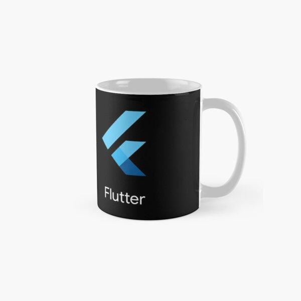 Flutter SDK Logo with Name in White Classic Mug