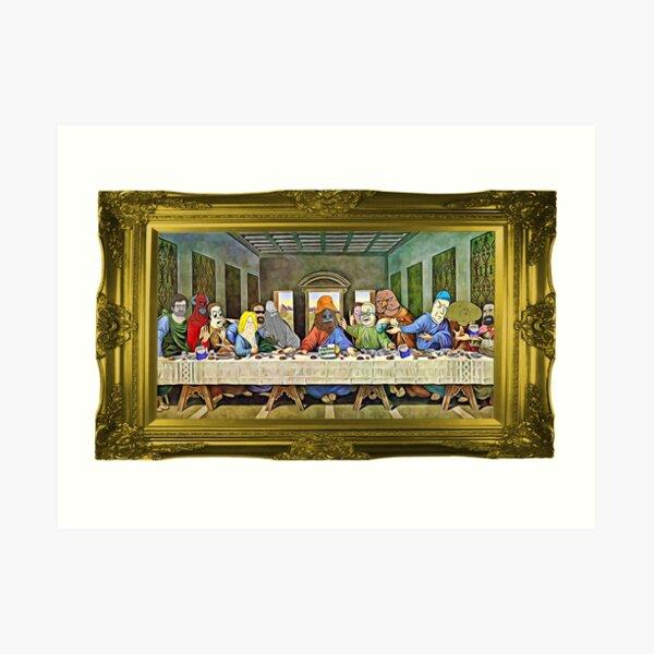 Last Supper of Browntown Art Print