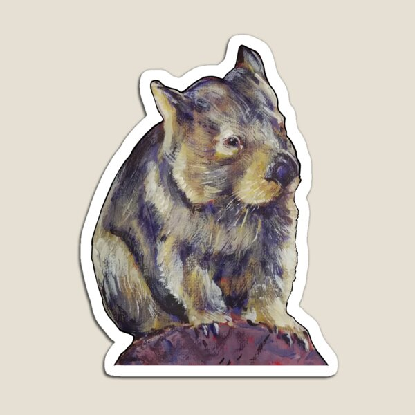 The Heroic Wombat Magnet