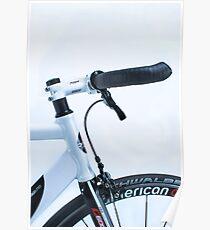 Omnium track bike in fixie street mode Poster