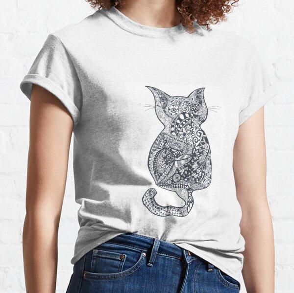 Doodle Art Cat Classic T-Shirt