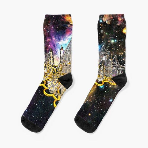 Crystal Hexagrid Matrix Stargate Socks