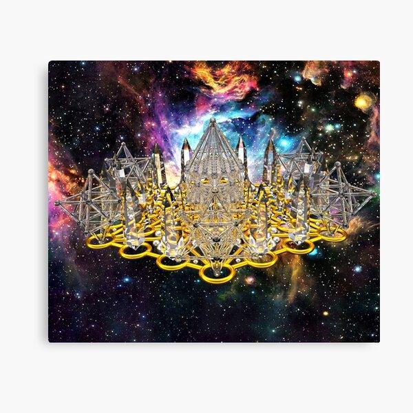 Crystal Hexagrid Matrix Stargate Canvas Print
