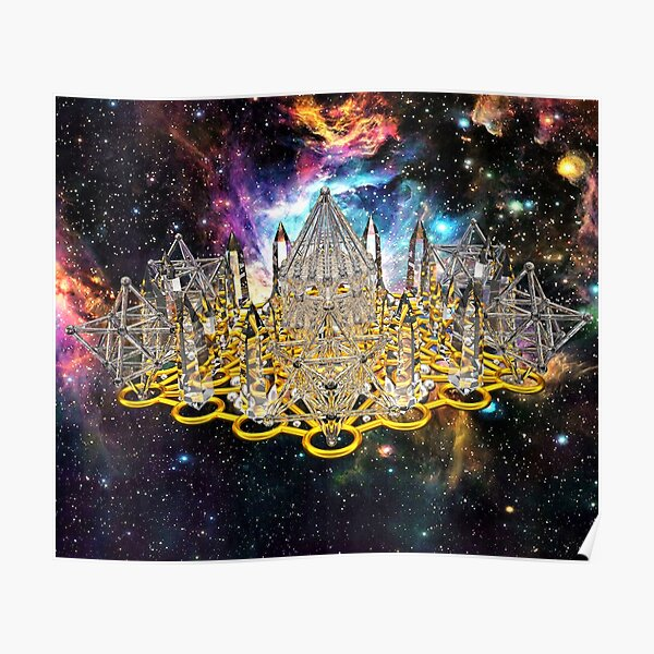 Crystal Hexagrid Matrix Stargate Poster