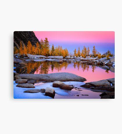 Pink Gnome Tarn Canvas Print