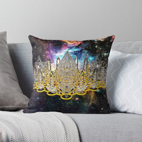 Crystal Hexagrid Matrix Stargate Throw Pillow