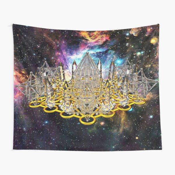 Crystal Hexagrid Matrix Stargate Tapestry