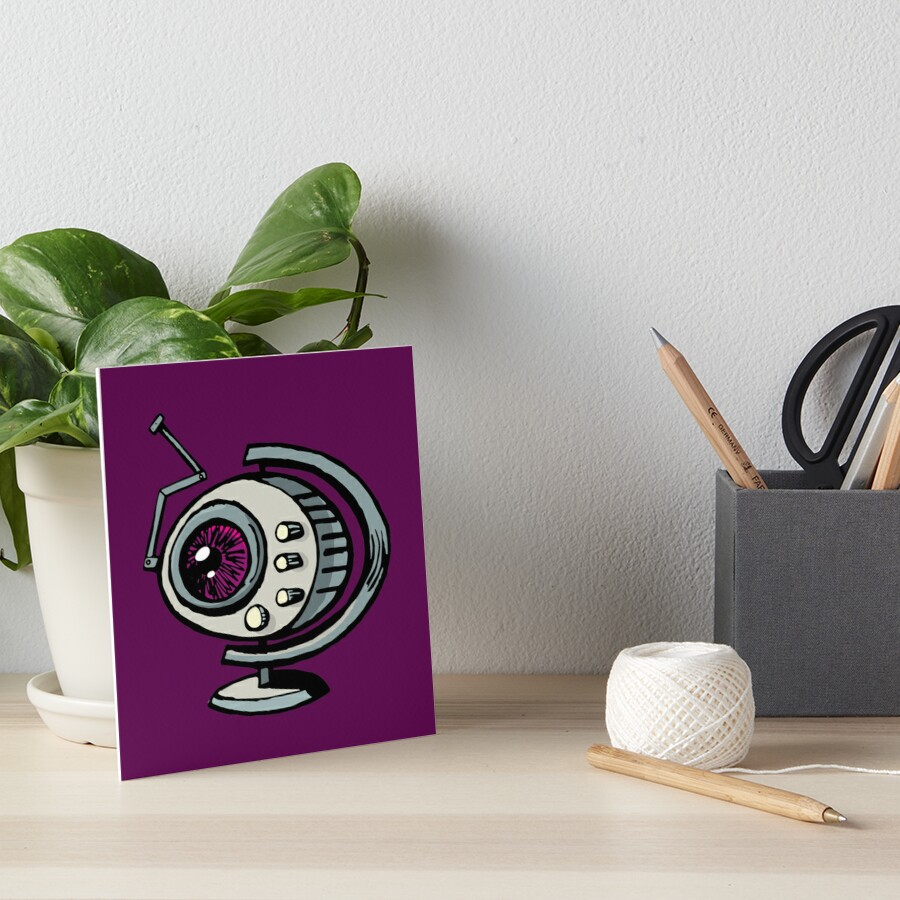 Retro radio with antenna Art Board Print