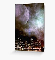 ...caught between the moon and New York City Greeting Card