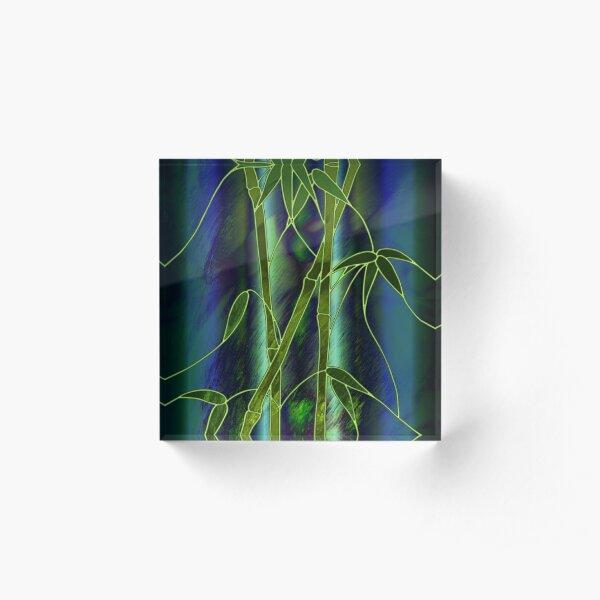 Bamboo Acrylic Block