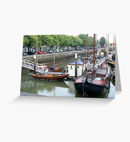 queue up boats-4d challenge Greeting Card