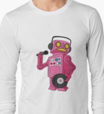 hey robot dj Long Sleeve T-Shirt