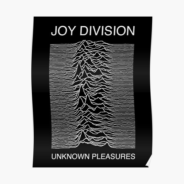 Official JOY DIVISION Unknown Pleasures T Shirt Black Band Tee Ian Curtis FAC51