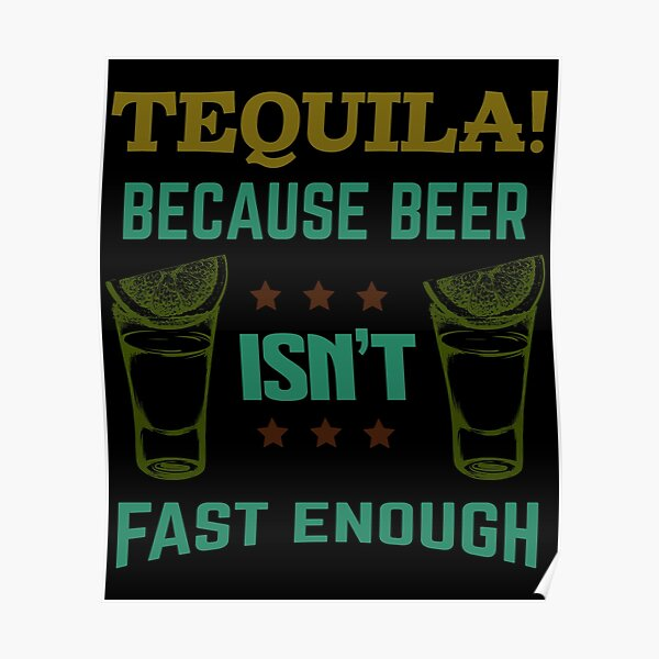 TEQUILA BECAUSE BEER ISNT FAST ENOUGH GREETING CARD RETRO BIRTHDAY HUMOUR BOOZE