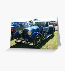 Packard #5 - 1929 Blue Roadster Greeting Card