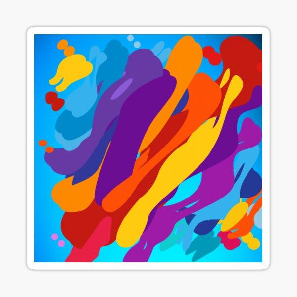 colourfull design for special occassion Sticker