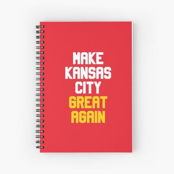 Make Kansas City Great Again Football Team Spiral Notebook