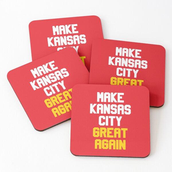 Make Kansas City Great Again Football Team Coasters (Set of 4)