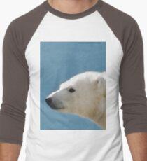 White Polar Bear Men's Baseball ¾ T-Shirt
