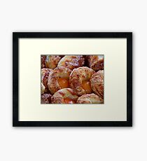 Apricot Pastry Framed Print