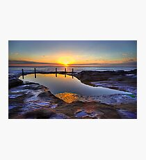 Sunrise Ivo Rowe Pool Coogee Sydney Photographic Print