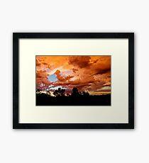 Prescott Arizona Sunset Framed Print