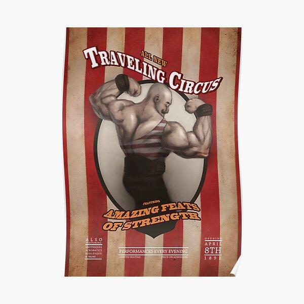 Circus Strongman Poster