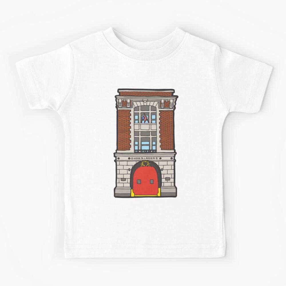 8 Hook & Ladder New York Fire Station Kids T-Shirt