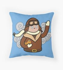 When I grow up I want to be a pilot Throw Pillow
