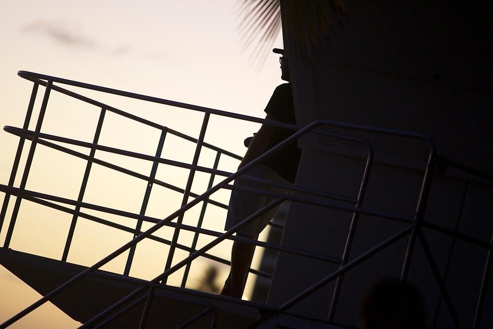 Baywatch at Sunset by Barry  Elliott