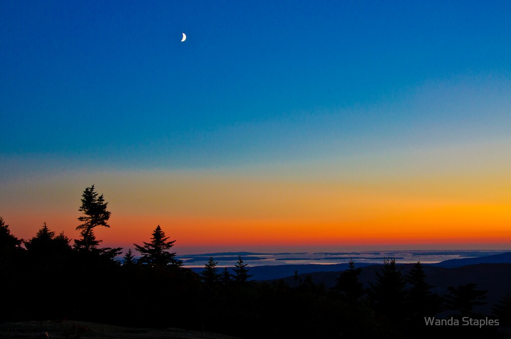 Cadillac Mountain at Sunset by Wanda Staples