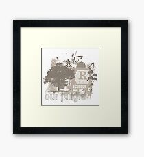 Tree Art Ecology Framed Print