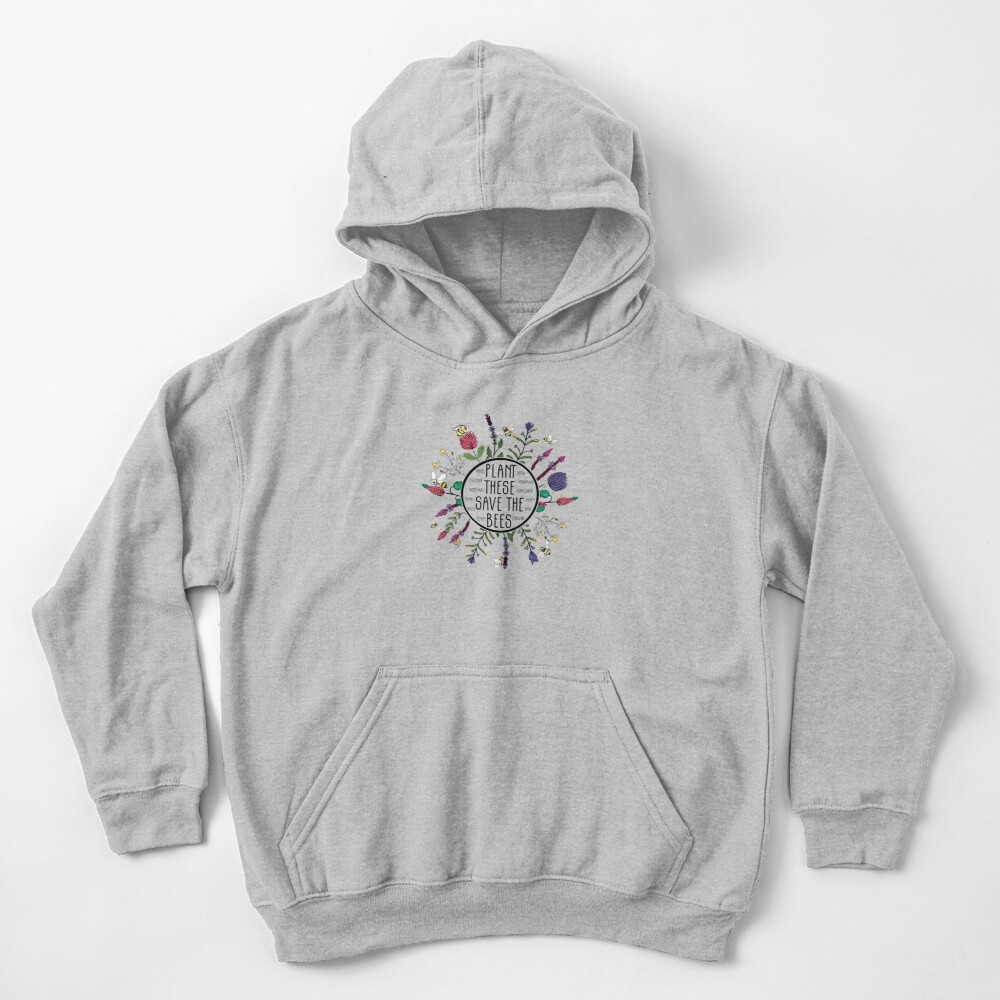 Plant These Save the Bees Kids Pullover Hoodie