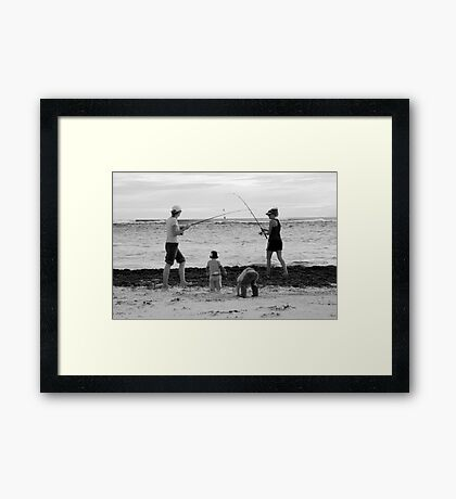 peoplescapes #339, duelling rods Framed Print