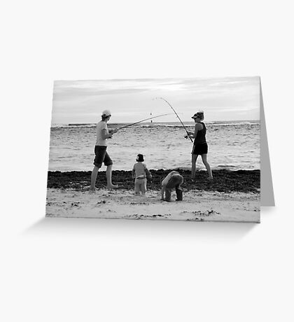 peoplescapes #339, duelling rods Greeting Card