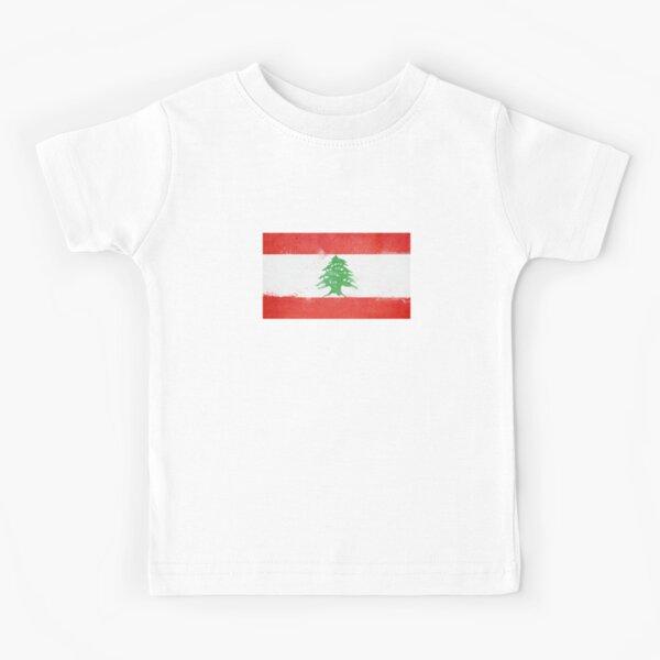 white t shirt top design Lebanon flag mens womens kids /& baby sizes
