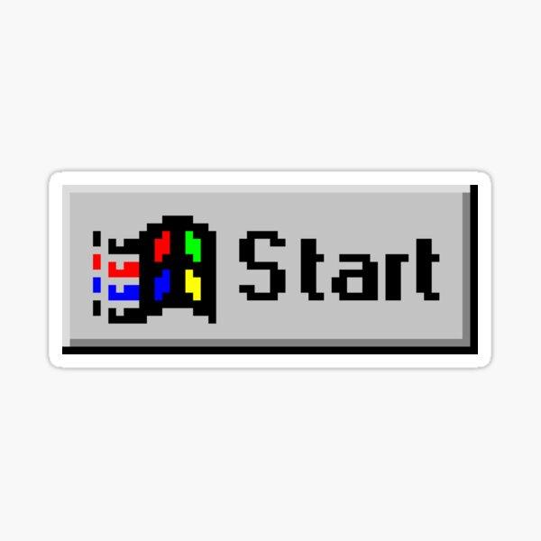 Start Button Sticker