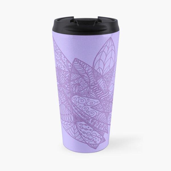Lilac floral tangle  Travel Mug