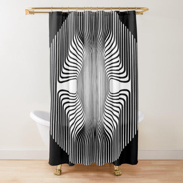 Lines, Curves, Circle - 2D shape Shower Curtain
