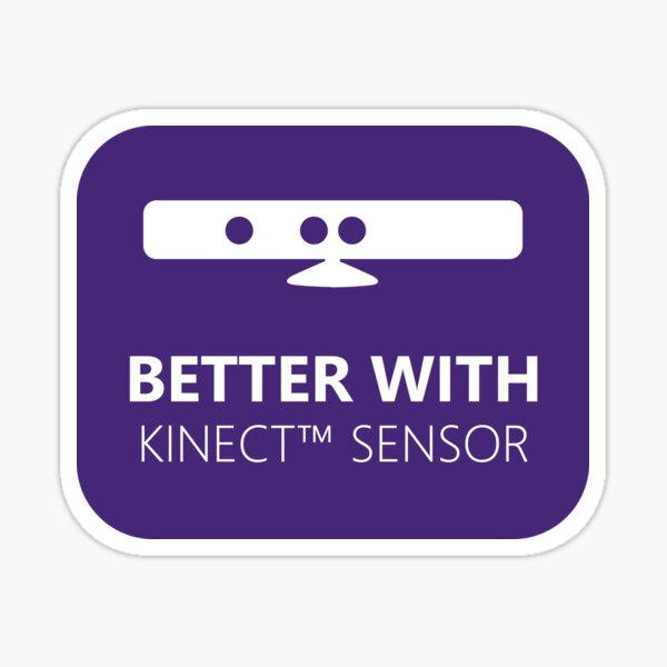Better with Kinect Sticker