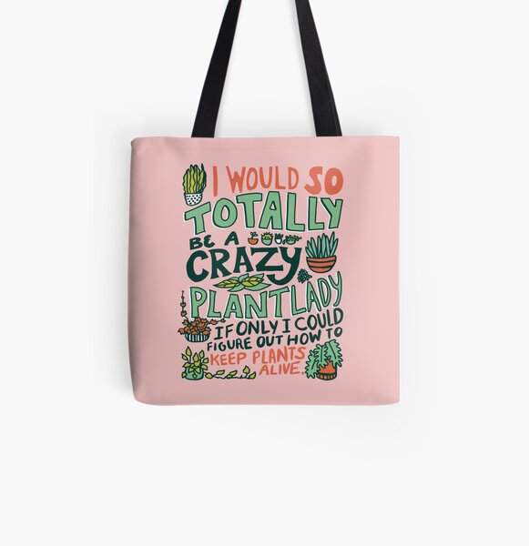 Plant Lady All Over Print Tote Bag